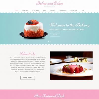 Bakes And Cakes WordPress Theme
