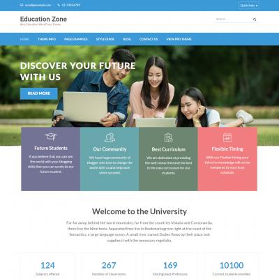 Education Zone WordPress Theme