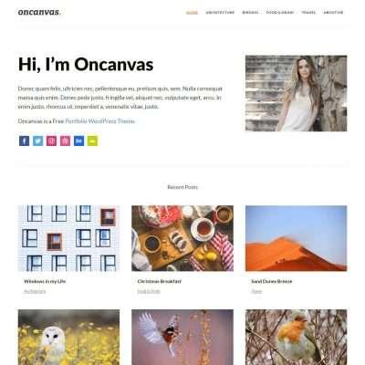 Oncanvas WordPress Theme