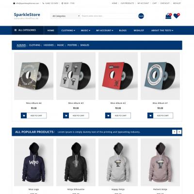 SparkleStore WordPress Theme