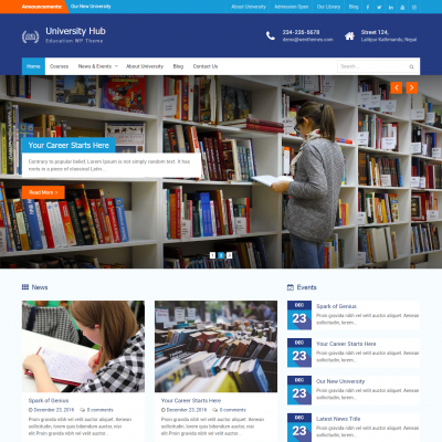 University Hub WordPress Theme