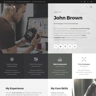 Argenta WordPress Theme