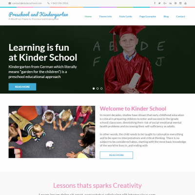 Preschool and Kindergarten WordPress Theme