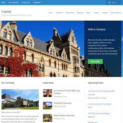Capital WordPress Theme