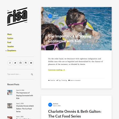 Risa WordPress Theme