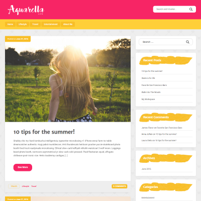 Aquarella Lite WordPress Theme