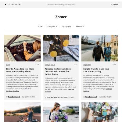 Zomer WordPress Theme
