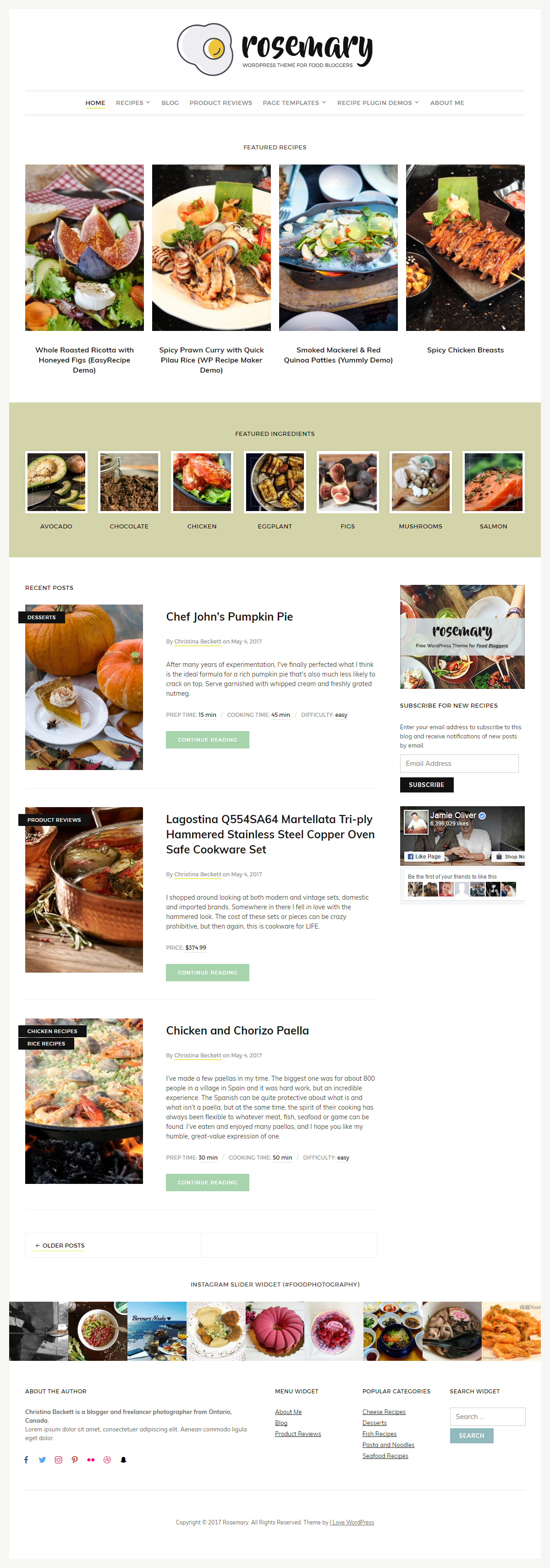 Food Recipes WordPress Theme V