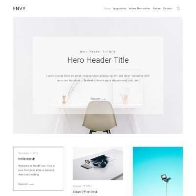 Envy Blog WordPress Theme