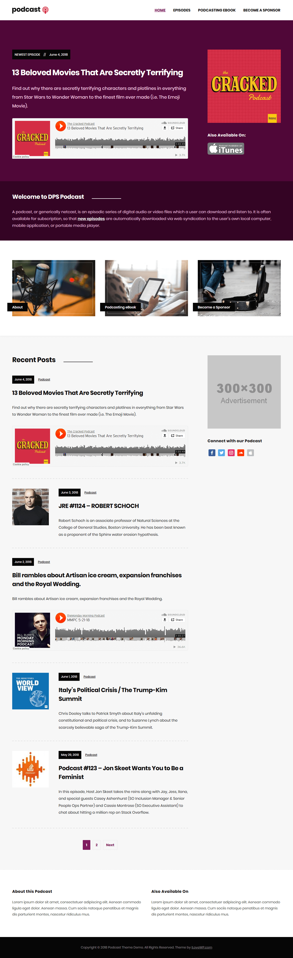 Podcast WordPress Theme | I Love WordPress