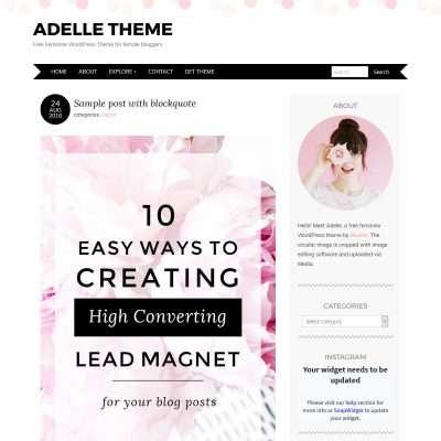 Adelle WordPress Theme