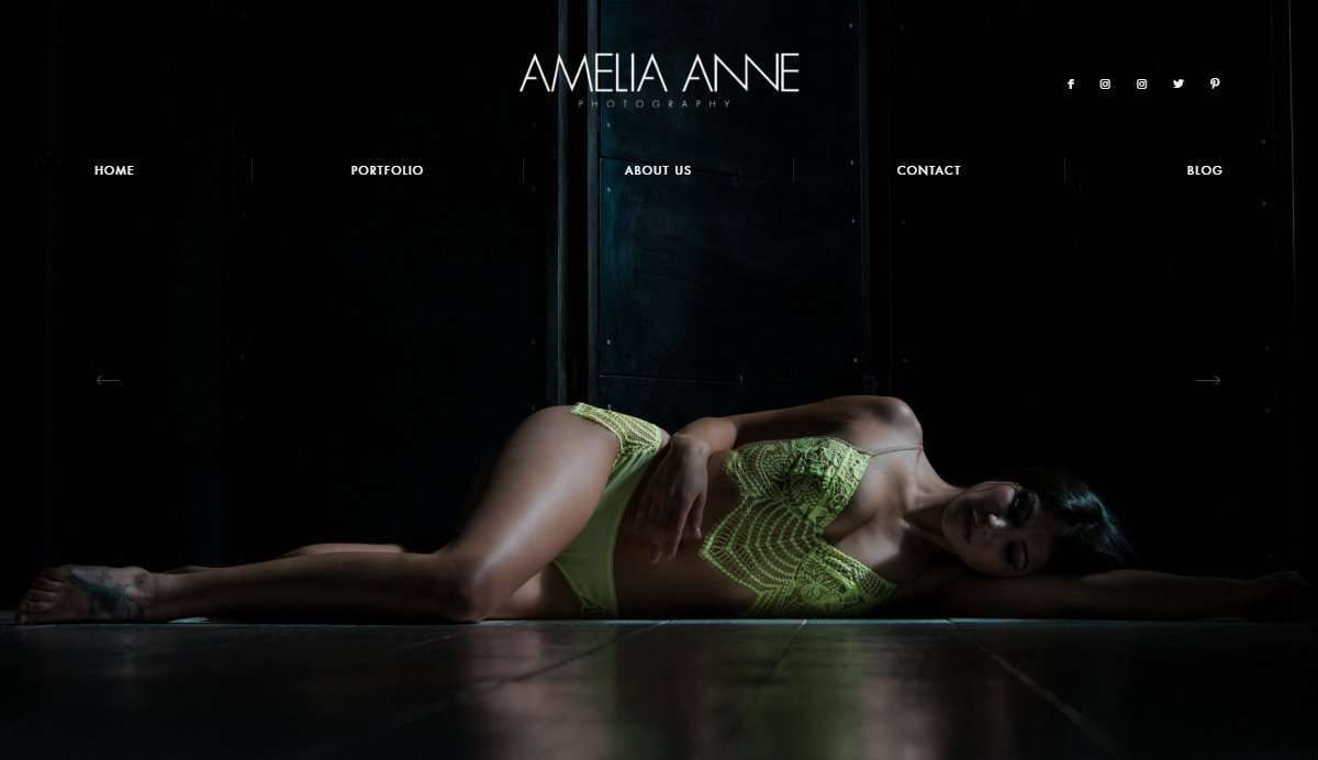 Website Screenshot - Amelia Anne - Fine art photography in Bozeman, Montana - USA