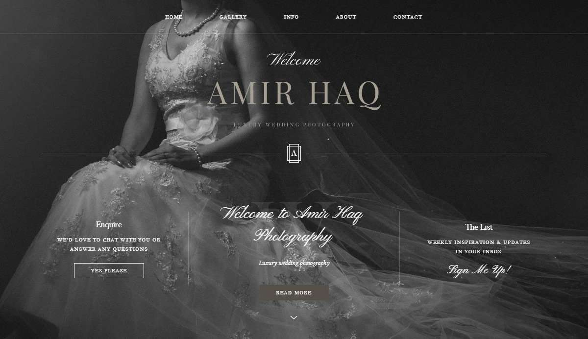 Website Screenshot - Amir Haq - Asian wedding photography in Birmingham and London