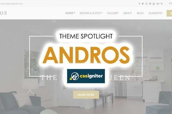 20 Hotel Websites Created with Andros WordPress Theme