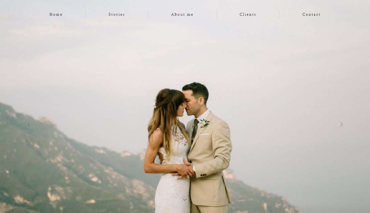 Website Screenshot - Antonio Patta - Wedding Photographer in Italy