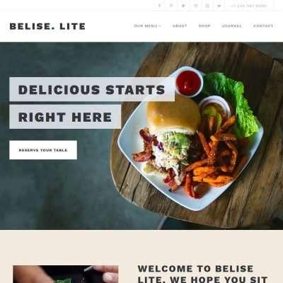 Belise Lite WordPress Theme