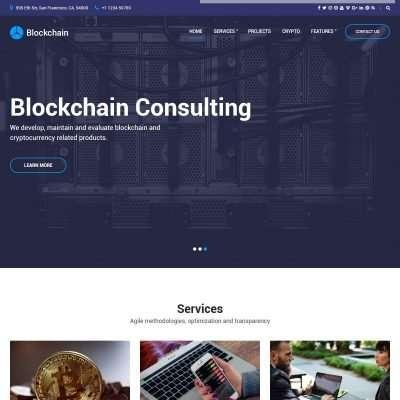 Blockchain WordPress Theme