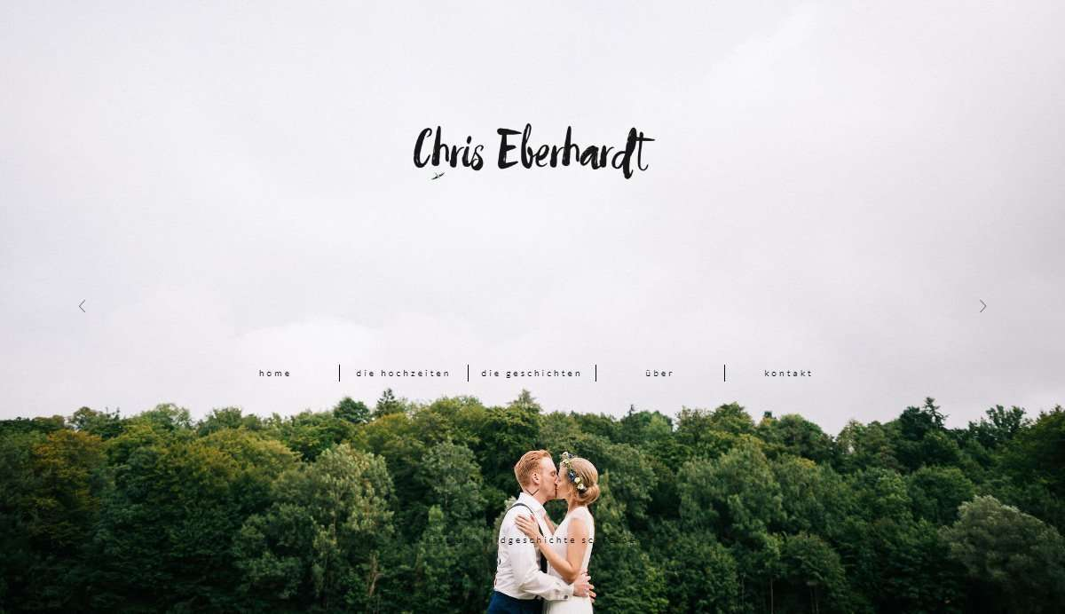 Website Screenshot - Chris Eberhardt - Wedding Photographer in Bavaria, Germany