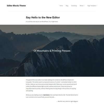 Editor Blocks WordPress Theme