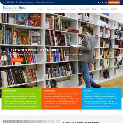 Education Base WordPress Theme