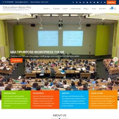 Education Base Pro WordPress Theme