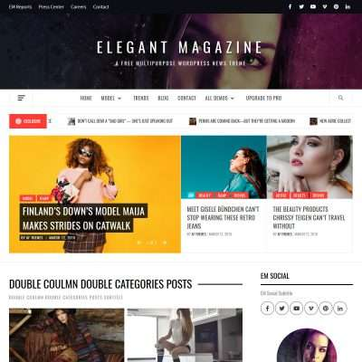 Elegant Magazine WordPress Theme