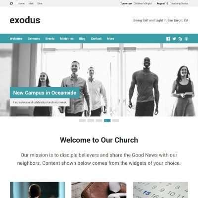Exodus WordPress Theme