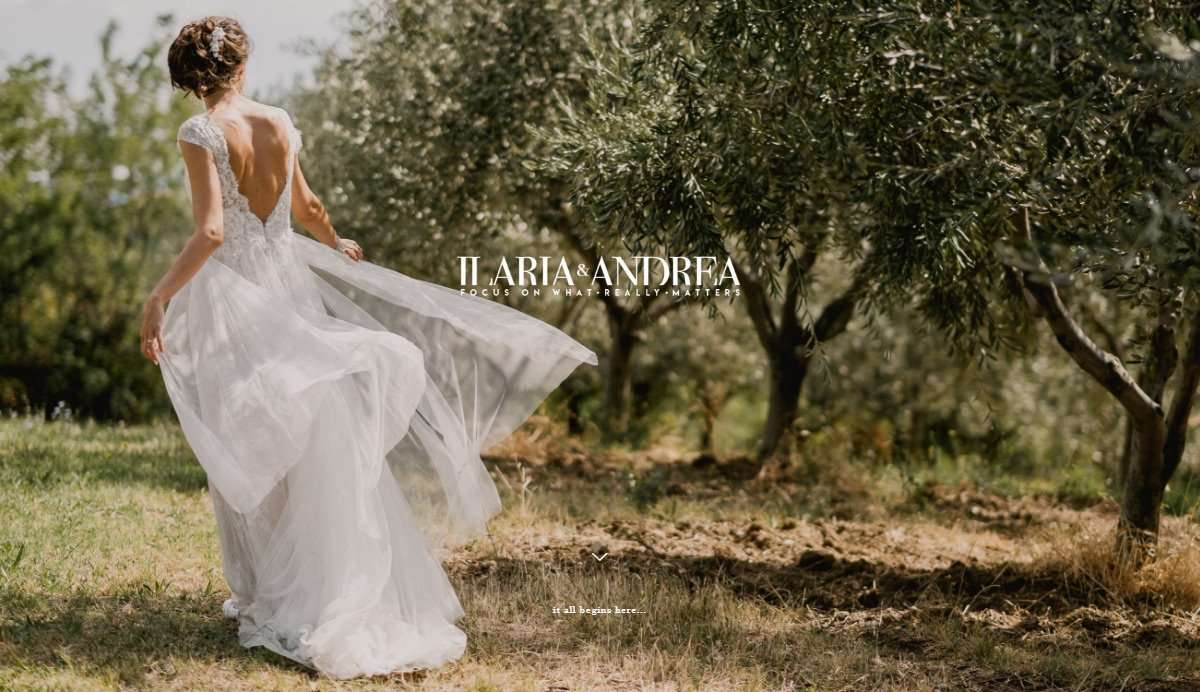 Website Screenshot - Ilaria & Andrea - Wedding photographers in Italy