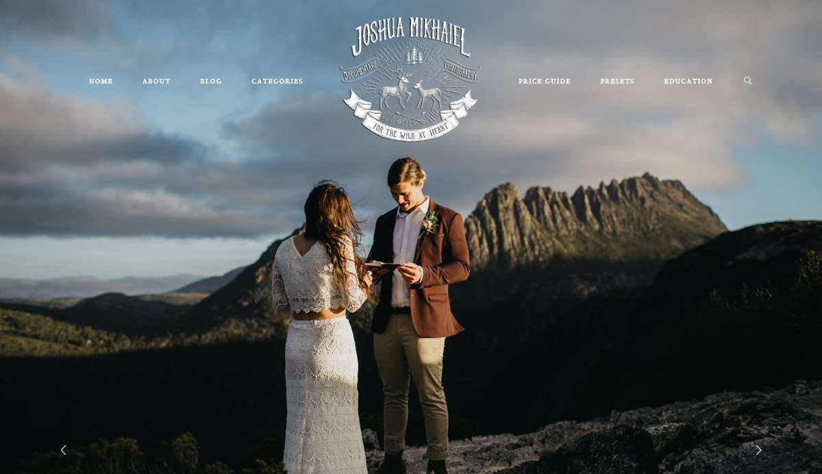 Website Screenshot - Joshua Mikhaiel - Australia & New Zealand Intimate Wedding Photographer
