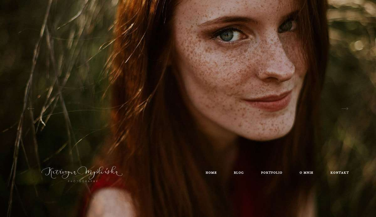 Website Screenshot - Katarzyna Myślińska - Wedding Photographer, Poland