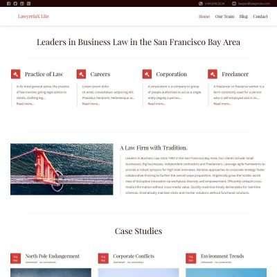 LawyeriaX Lite WordPress Theme