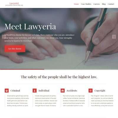 LawyeriaX WordPress Theme