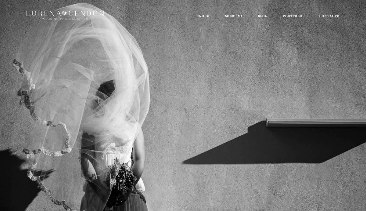 Website Screenshot - Lorena Cendon - Wedding photographer in Spain