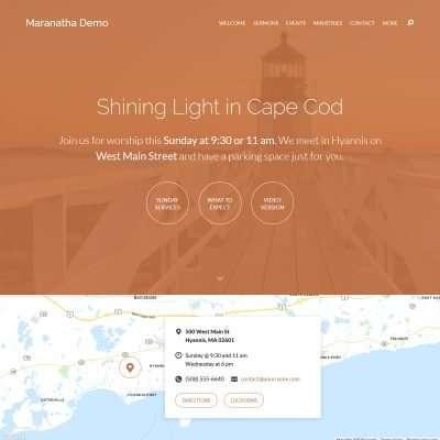 Maranatha WordPress Theme