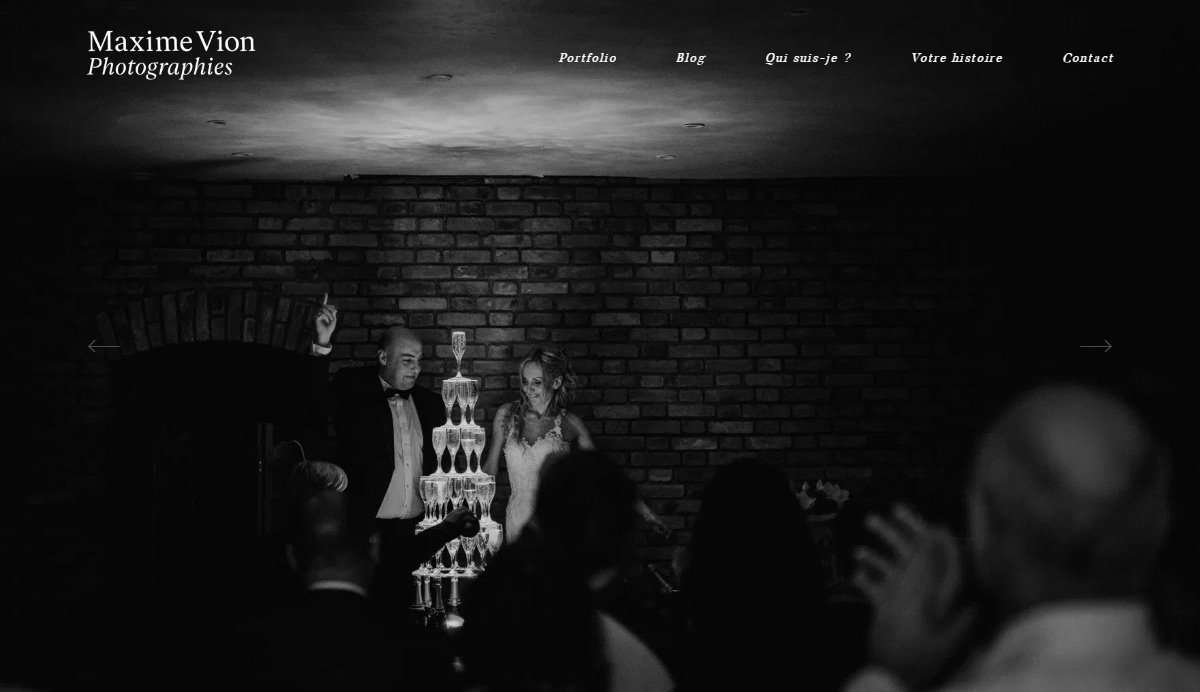 Website Screenshot - Maxime Vion - Wedding Photography in France