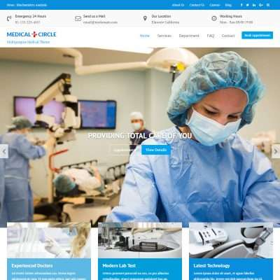 Medical Circle WordPress Theme