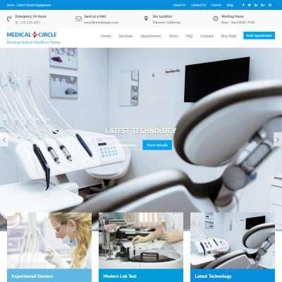 Medical Circle Pro WordPress Theme