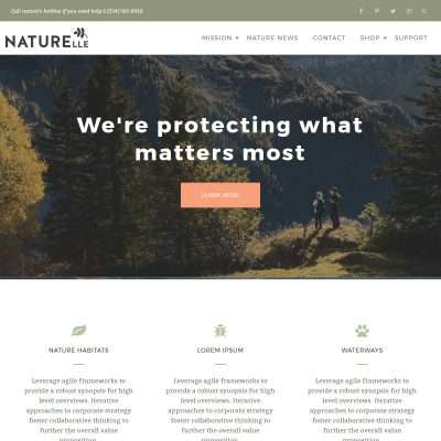 Naturelle WordPress Theme