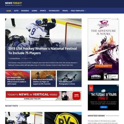 NewsToday WordPress Theme