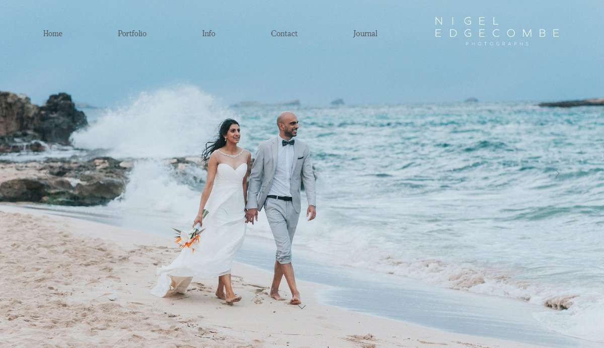 Website Screenshot - Nigel Edgecombe - Wedding Photographer in Ibiza