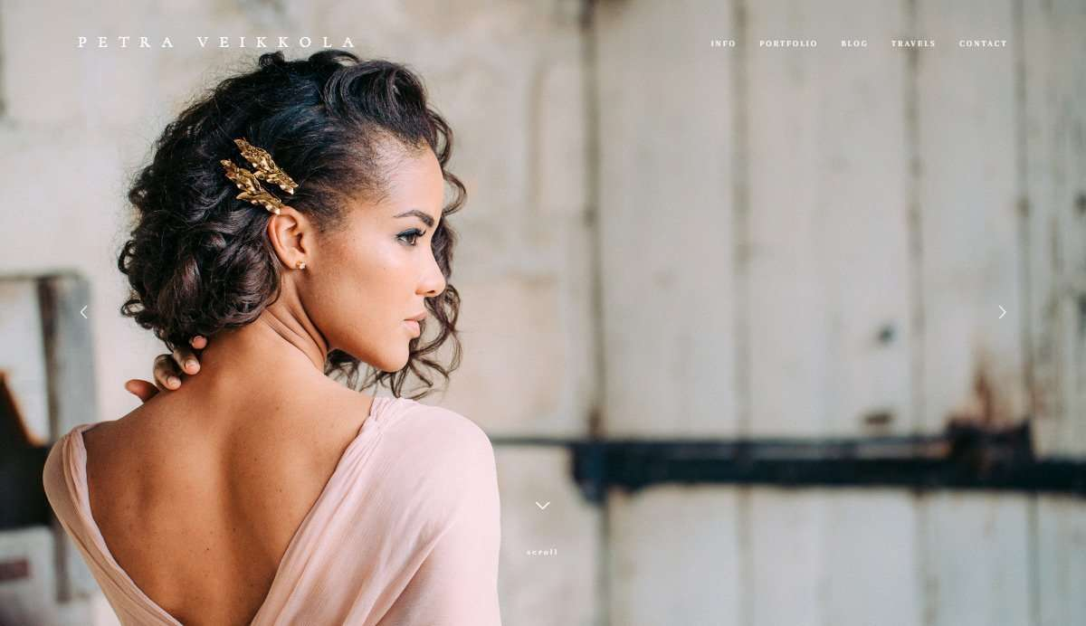 Website Screenshot - Petra Veikkola - Wedding photographer in Finland