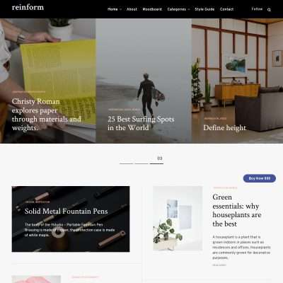 Reinform WordPress Theme