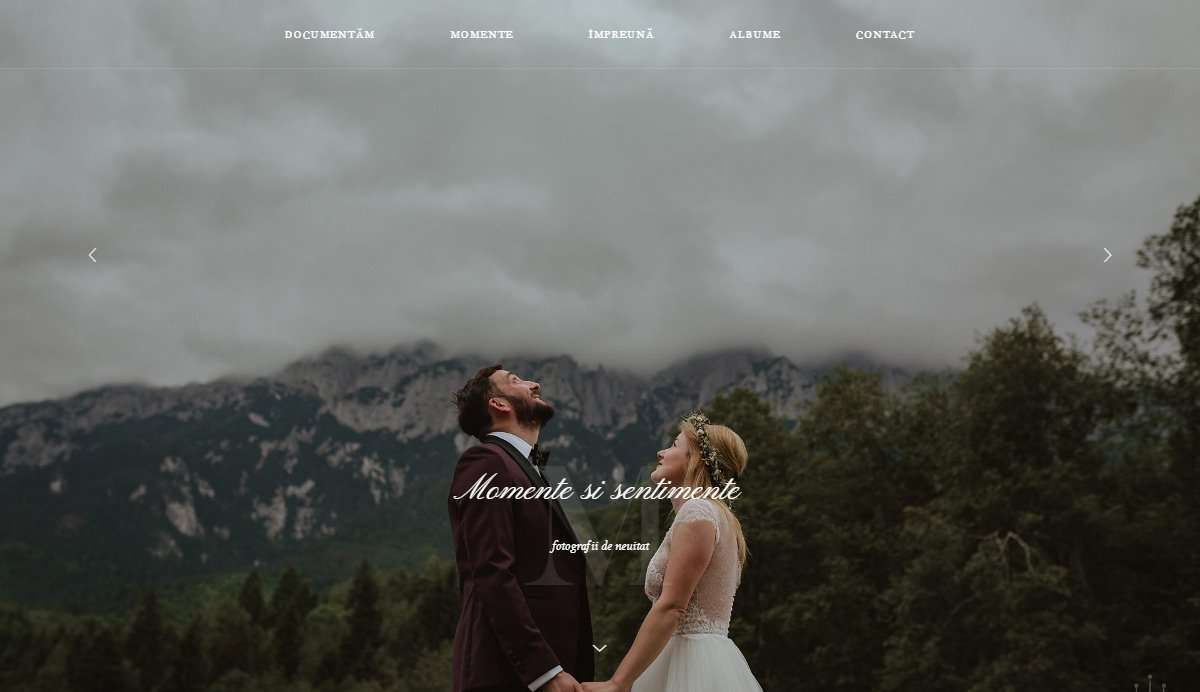 Website Screenshot - SeSiVede Fotografie - Wedding Photographer from Brasov, Romania
