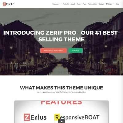 Zerif Pro WordPress Theme