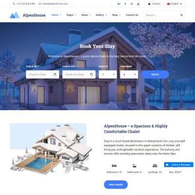 Alpenhouse WordPress Theme