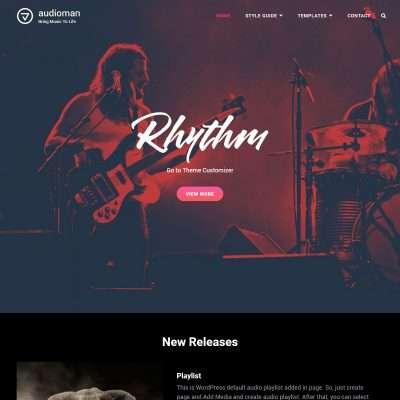 Audioman WordPress Theme
