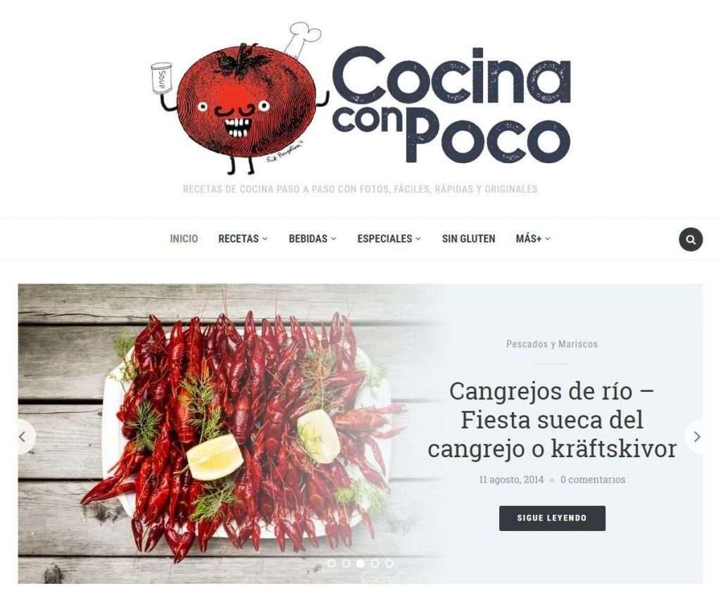 Blo Cocina | 25 Food Blogs Created With Foodica Wordpress Theme I Love Wordpress