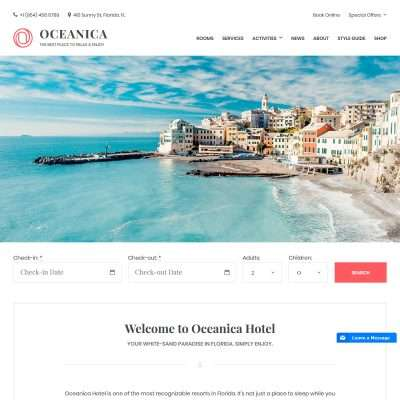 Oceanica WordPress Theme