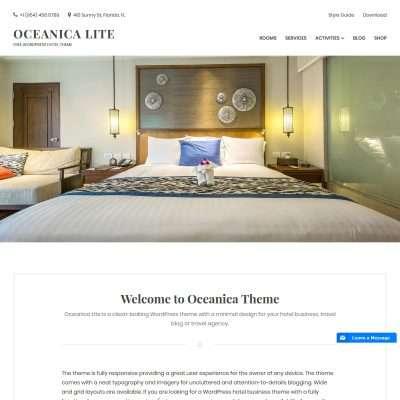 Oceanica Lite WordPress Theme
