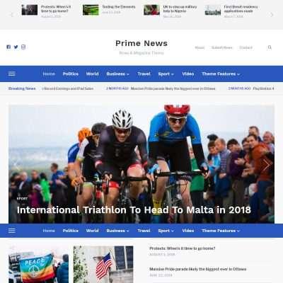 Prime News WordPress Theme
